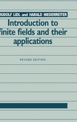 9780521460941: Introduction to Finite Fields and their Applications 2nd Edition Hardback