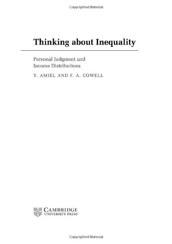 9780521461313: Thinking about Inequality: Personal Judgment and Income Distributions