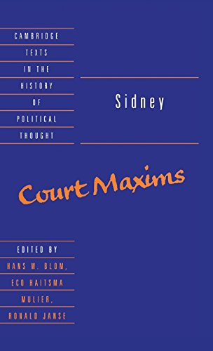 9780521461757: Sidney: Court Maxims (Cambridge Texts in the History of Political Thought)