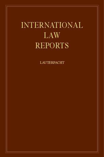 9780521463652: International Law Reports (Volume 20)