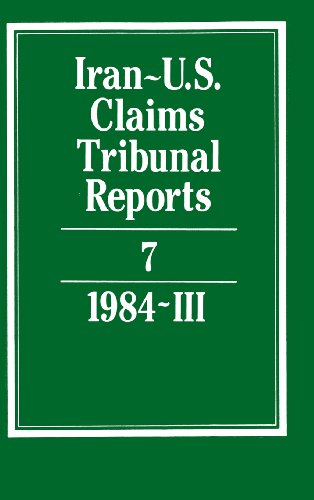 9780521464413: Iran-U.S. Claims Tribunal Reports: Volume 7