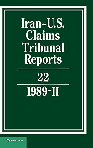 Iran-U.S. Claims Tribunal Reports: Volume 22: V. 22