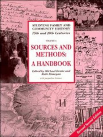 9780521465809: Studying Family and Community History: Volume 4, Sources and Methods for Family and Community Historians: A Handbook