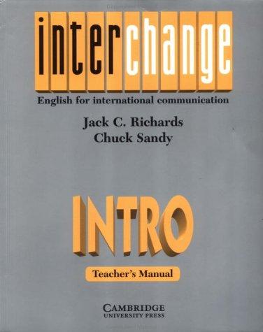 9780521467421: Interchange Intro Teacher's manual: English for International Communication