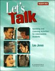 9780521467537: Let's Talk Student's book: Speaking and Listening Activities for Intermediate Students