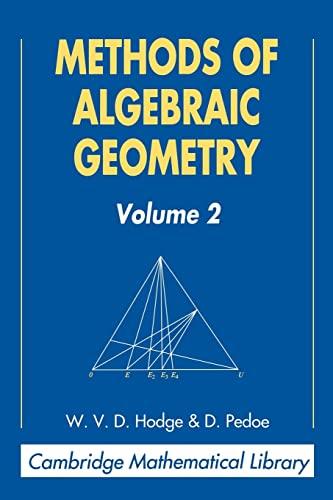 9780521469012: Methods of Algebraic Geometry: Volume 2 (Cambridge Mathematical Library)