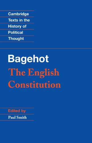 9780521469425: The English Constitution (Cambridge Texts in the History of Political Thought)