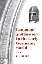 9780521471343: Language and History in the Early Germanic World