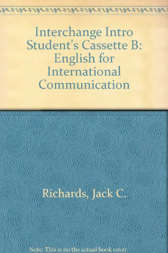 9780521471893: Interchange Intro Student's Cassette B: English for International Communication