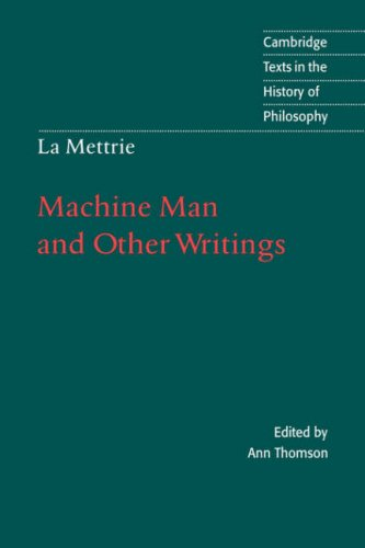 9780521472586: La Mettrie: Machine Man and Other Writings (Cambridge Texts in the History of Philosophy)