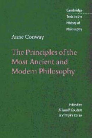 9780521473354: Anne Conway: The Principles of the Most Ancient and Modern Philosophy (Cambridge Texts in the History of Philosophy)