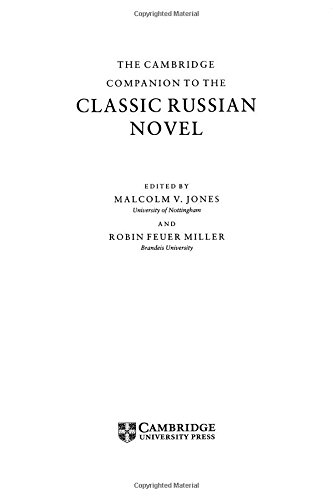 9780521473460: The Cambridge Companion to the Classic Russian Novel