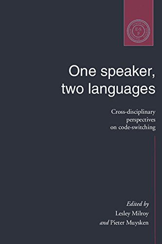 9780521473507: One Speaker, Two Languages: Cross-Disciplinary Perspectives on Code-Switching