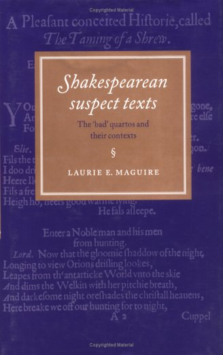 9780521473644: Shakespearean Suspect Texts: The 'Bad' Quartos and their Contexts