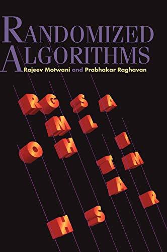 9780521474658: Randomized Algorithms Hardback (Cambridge International Series on Parallel Computation)