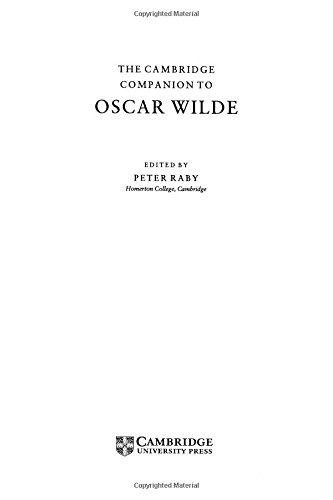 9780521474719: The Cambridge Companion to Oscar Wilde (Cambridge Companions to Literature)