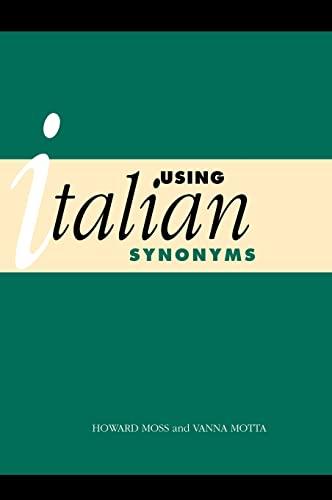 9780521475068: Using Italian Synonyms