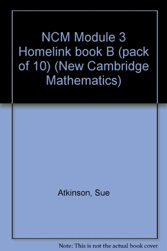 9780521475976: NCM Module 3 Homelink book B (pack of 10) (New Cambridge Mathematics)