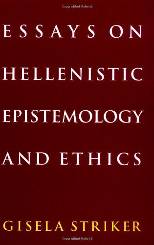 9780521476416: Essays on Hellenistic Epistemology and Ethics