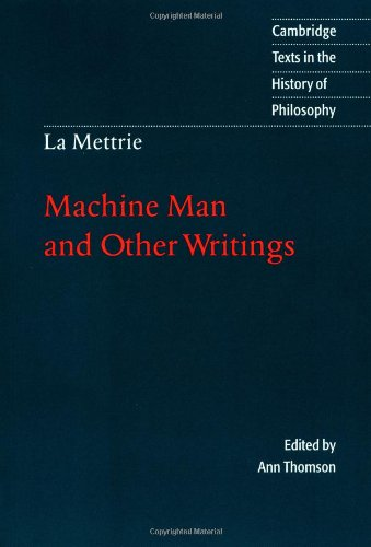 9780521478496: La Mettrie: Machine Man and Other Writings (Cambridge Texts in the History of Philosophy)