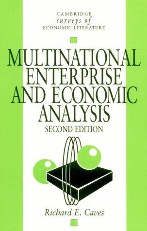 9780521478588: Multinational Enterprise and Economic Analysis (Cambridge Surveys of Economic Literature)