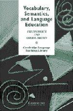 9780521479424: Vocabulary, Semantics and Language Education (Cambridge Language Teaching Library)