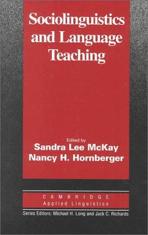 9780521482059: Sociolinguistics and Language Teaching