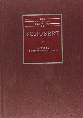 9780521482295: The Cambridge Companion to Schubert (Cambridge Companions to Music)