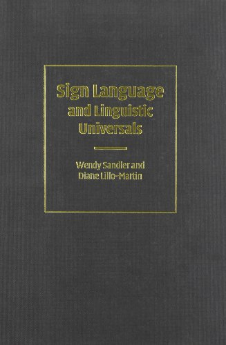 9780521482486: Sign Language and Linguistic Universals Hardback