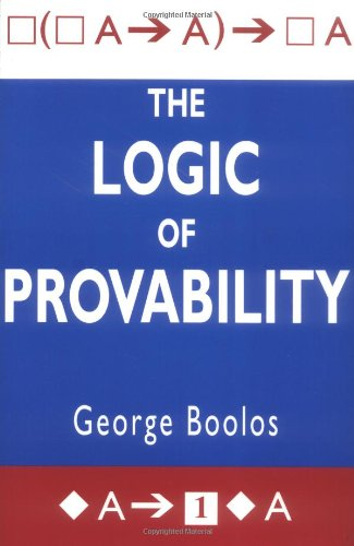 9780521483254: The Logic of Provability
