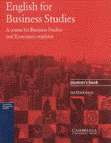 9780521483537: English for Business Studies Student's book: A Course for Business Studies and Economics Students