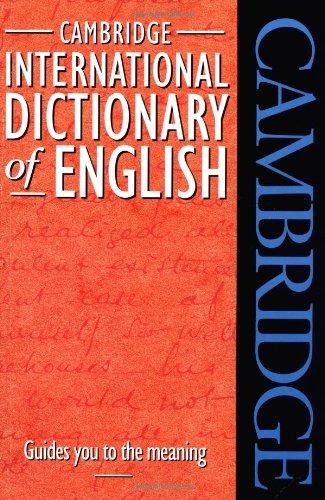 9780521484213: Cambridge International Dictionary of English