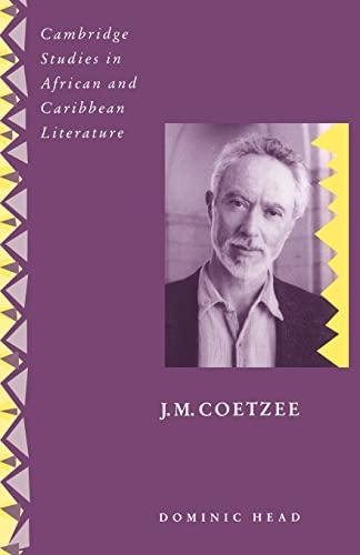 9780521484237: J. M. Coetzee (Cambridge Studies in African and Caribbean Literature)