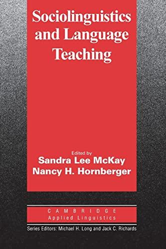 9780521484343: Sociolinguistics and Language Teaching