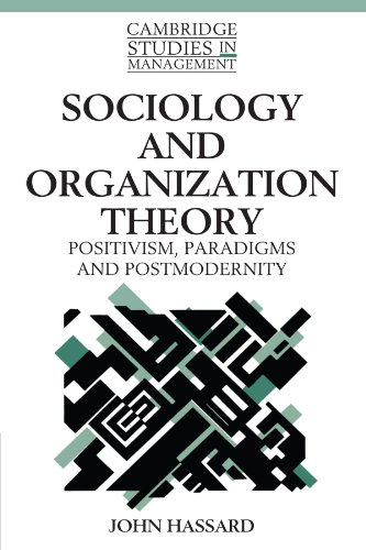 9780521484589: Sociology and Organization Theory: Positivism, Paradigms and Postmodernity (Cambridge Studies in Management)