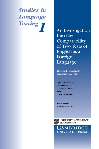 9780521484671: An Investigation into the Comparability of Two Tests of English as a Foreign Language (Studies in Language Testing) (v. 1)