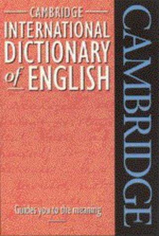 9780521484695: Cambridge International Dictionary of English Flexicover
