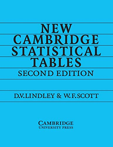 9780521484855: New Cambridge Statistical Tables