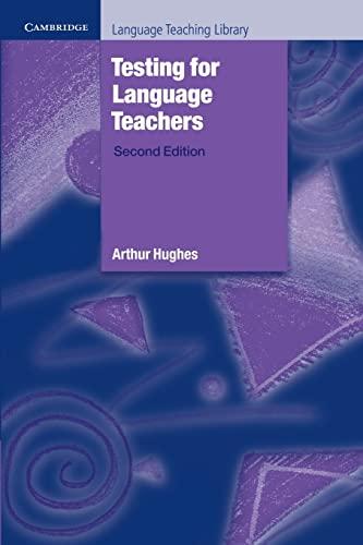 9780521484954: Testing for Language Teachers Paperback (Cambridge Language Teaching Library)