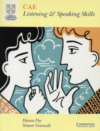 9780521485333: CAE Listening and Speaking Skills Student's book (Cambridge Cae Skills)