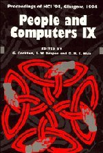 People and Computers IX (British Computer Society Conference) (0521485576) by Cockton, Gilbert; Draper, Stephen; Weir, George R. S.