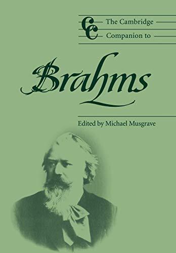 9780521485814: The Cambridge Companion to Brahms