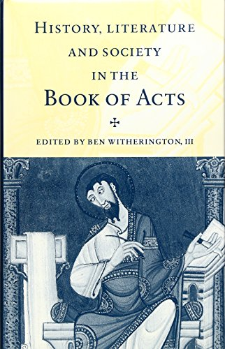 9780521495202: History, Literature, and Society in the Book of Acts