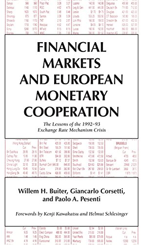 9780521495479: Financial Markets and European Monetary Cooperation: The Lessons of the 1992-93 Exchange Rate Mechanism Crisis (Japan-US Center UFJ Bank Monographs on International Financial Markets)