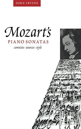 9780521496315: Mozart's Piano Sonatas: Contexts, Sources, Style