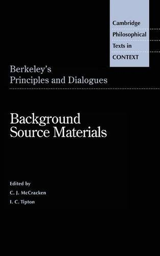 9780521496810: Berkeley's Principles and Dialogues: Background Source Materials (Cambridge Philosophical Texts in Context)