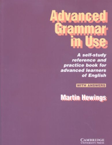 9780521498685: Advanced Grammar in Use With answers