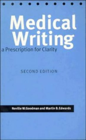 9780521498760: Medical Writing: A Prescription for Clarity