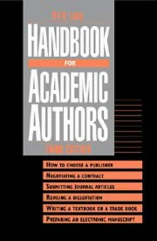 9780521498920: Handbook for Academic Authors