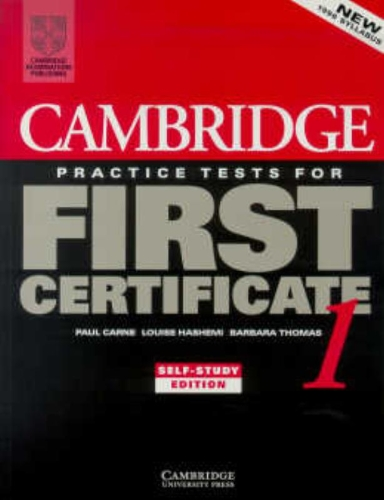 9780521498968: Cambridge Practice Tests for First Certificate 1 Self-study student's book (FCE Practice Tests)